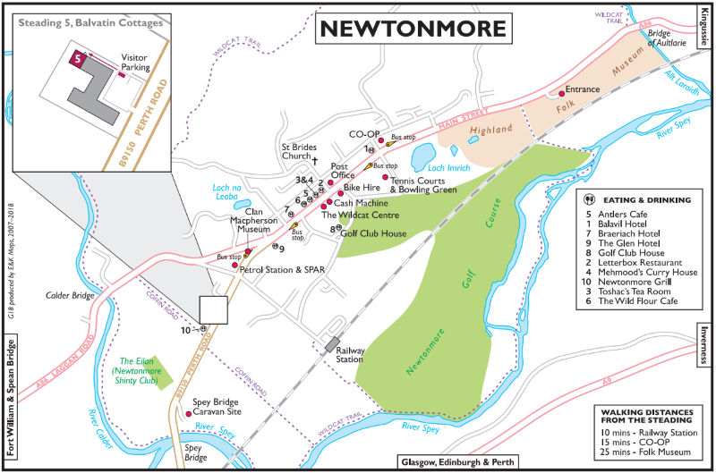 Highland Newtonmore Village Map